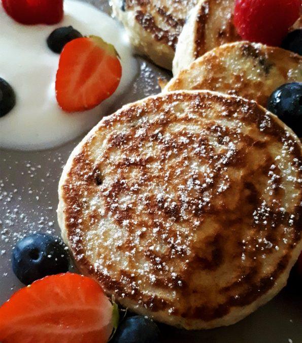 Bananen-Porridge-Pancakes mit Schokotröpfchen